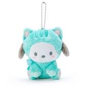〔小禮堂〕帕恰狗 絨毛玩偶娃娃吊飾《綠》鑰匙圈.掛飾.變裝貓咪系列 4901610-24480