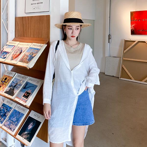 LULUS【A01200545】E長版連帽襯衫5色