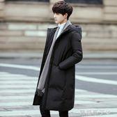 反季羽絨服男中長款新款帥氣加厚青年學生修身韓版冬裝外套潮 焦糖布丁