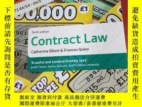 二手書博民逛書店Contract罕見Law Tenth edition(合同法第十版)Y281199 Catherine El