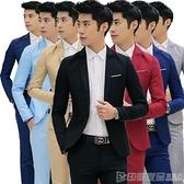 個性工作韓版西服外套男休閒商務男裝修身上衣男士時尚單件小西裝 印象家品