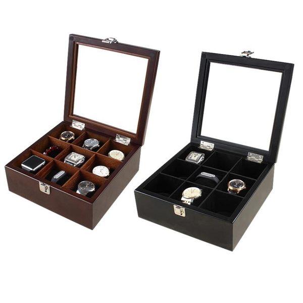 實木木質 高檔手錶盒首飾收納盒收藏盒展示儲物盒 童趣潮品