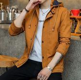 男士外套春秋新款加絨夾克男裝冬季韓版潮流修身帥氣牛仔衣服