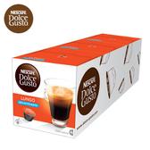 雀巢 新型膠囊咖啡機專用 低咖啡因美式濃黑咖啡膠囊(一條三盒入)料號 12409482