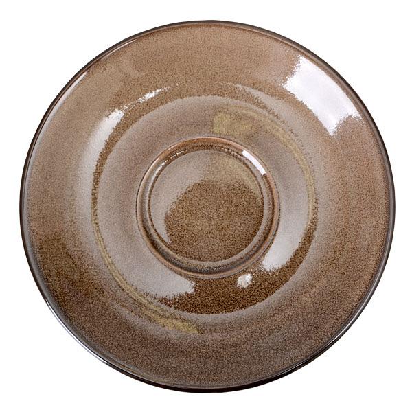 【Luzerne】陸升瓷器 Rustic 15cm 盤-咖啡色 /RT1415416
