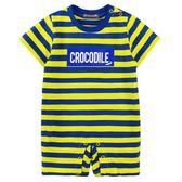 『小鱷魚童裝』跳色條紋連身裝(0號~01號)533533