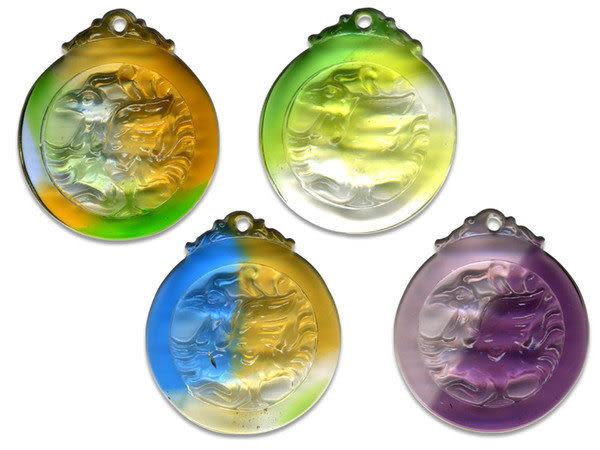 鹿港窯~居家開運水晶琉璃項鍊~五靈-朱雀◆附精美包裝◆免運費送到家