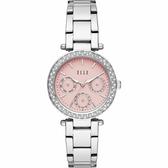 【ELLE】/三眼晶鑽時尚腕錶(男錶 女錶 Watch)/ELL23005/台灣總代理原廠公司貨兩年保固
