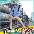 任選2件388短褲口袋裝飾五分褲休閒工裝...