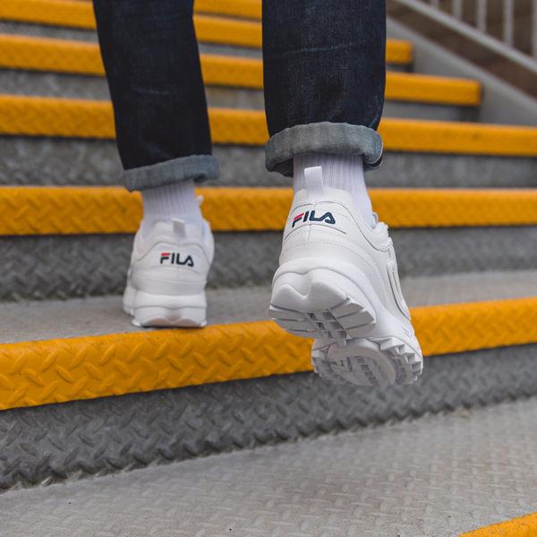 IMPACT FILA Disruptor 2 韓國 斐樂 白藍紅 復古鞋 厚底 鋸齒鞋 男女款 FS1HTA1071X