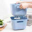 加高款兩件式瀝水籃 方形 手把 洗菜 清洗 置物 收納 水果 蔬菜 瀝乾 過濾【A019】MY COLOR