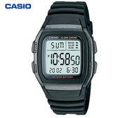 CASIO 黑框方形大數字數位膠帶電子錶 W-96H-1B 學生錶 當兵軍用錶 公司貨 10年長效電力 | 名人鐘錶