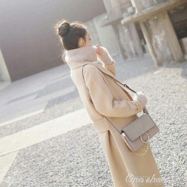外套褂子妮子大衣女中長款原宿風加厚毛呢外套 早秋最低價促銷