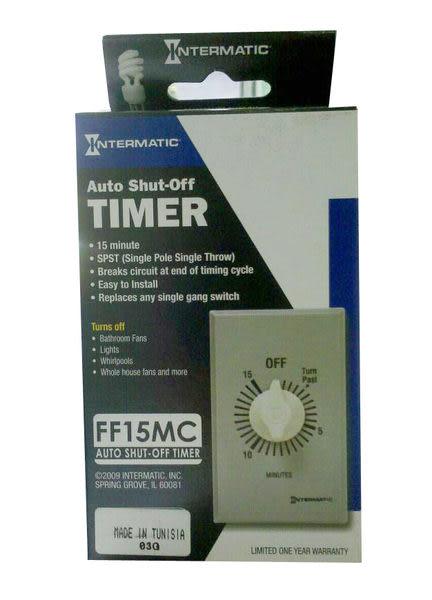 【 麗室衛浴】 美國 FF15MC 15 分鐘 旋轉鈕式 斷電器