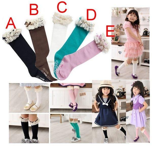 甜美《古典蕾絲款》百搭中統襪