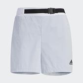 Adidas STR SHORTS WV 女裝 短褲 休閒 可調節腰帶 口袋 灰藍【運動世界】GP0645