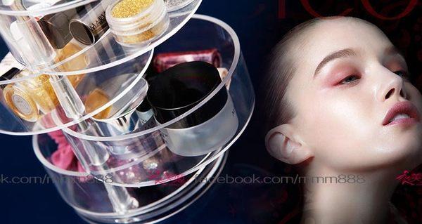 衣美姬♥日風優雅透明針線收納盒 首飾盒透明盒 小物桌面收納盒 四層轉式收納盒