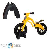 【虎兒寶】兒童平衡滑步車組合 -AIR 充氣胎 +置車架(黃) 【屈臣氏】