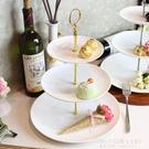 三層水果盤家用客廳蛋糕點心架子多層歐式創意甜品台擺件糖果托盤 艾瑞斯