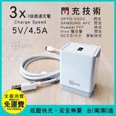 3倍極速 4.5A【GOGOPhone】支援閃充技術/FCP/AFC/雙引擎/VOOC/QC3.0 快充 充電器 旅充頭