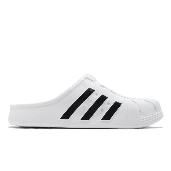 adidas 涼拖鞋 Adilette Clog 白 黑 男鞋 女鞋 包頭拖鞋 洞洞設計 運動拖鞋 【ACS】 FY8970
