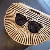 韓國墨鏡圓框眼鏡出游飾搭配眼鏡女吾本良品