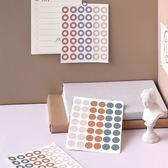 【BlueCat】大師風格中空圓點手帳裝飾貼紙