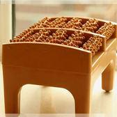 家用足底按摩凳腳搓排 仿木質腳底穴位滾輪工具 腳部經絡刷按摩器 卡布奇诺