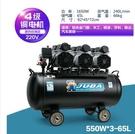 空壓機氣泵無油靜音空氣壓縮機工業級380V大型汽修噴漆打氣泵MKS小宅女