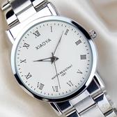 超薄石英手錶男士皮帶防水學生夜光情侶對錶女錶時尚鋼帶男錶【全