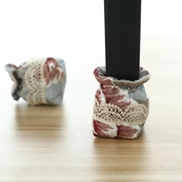 桌椅腳套 歐式布藝桌腳墊子腳套保護殼防滑耐磨靜音藍色家用凳子家具腳墊【快速出貨】