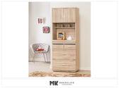 【MK億騰傢俱】ES707-01伊莉莎白2.3尺餐櫃(全組)