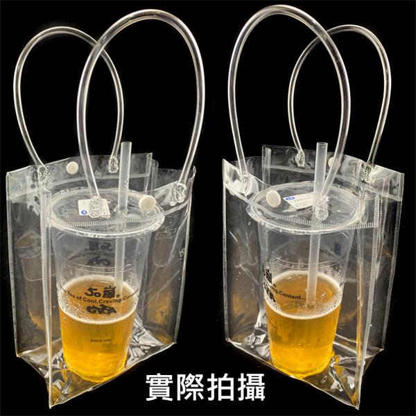 透明PVC袋(橫式3號袋) 飲料袋 多款尺碼 客製化 LOGO 購物袋 廣告袋 網紅提袋【塔克】