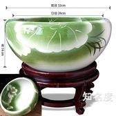 魚缸 陶瓷魚缸大號青花金魚烏龜缸盆睡碗蓮水仙荷花盆缸檳榔盆缽T 5色