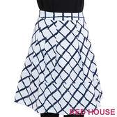 【RED HOUSE-蕾赫斯】拼接格子A字裙(共二色) 零碼出清,滿499元才出貨