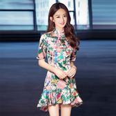 旗袍小洋裝小香風名媛中國風少女改良版中長款