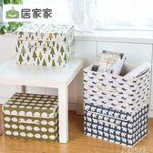 布藝折疊收納箱有蓋卡通儲物箱 衣服衣物整理箱裝書收納盒  奇思妙想屋