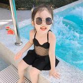 兒童泳衣 圖圖的商店夏款泳衣2019新款連體泳衣公主泳裝洋氣女童度假游泳衣