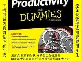 二手書博民逛書店Productivity罕見For DummiesY410016 Ciara Conlon ISBN:978