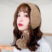 可愛耳罩保暖冬季韓版毛線系帶針織護耳捂耳耳帽耳朵套耳包 QQ17411『樂愛居家館』