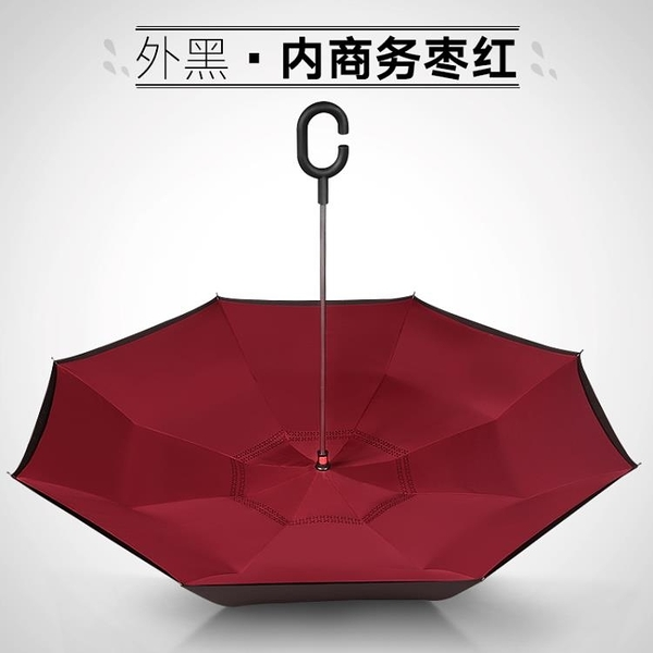 雨傘反向傘免持式雙層雙人