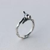 戒指 925純銀 鑲鑽-獨特小鳥生日情人節禮物女開口戒73dt220【時尚巴黎】