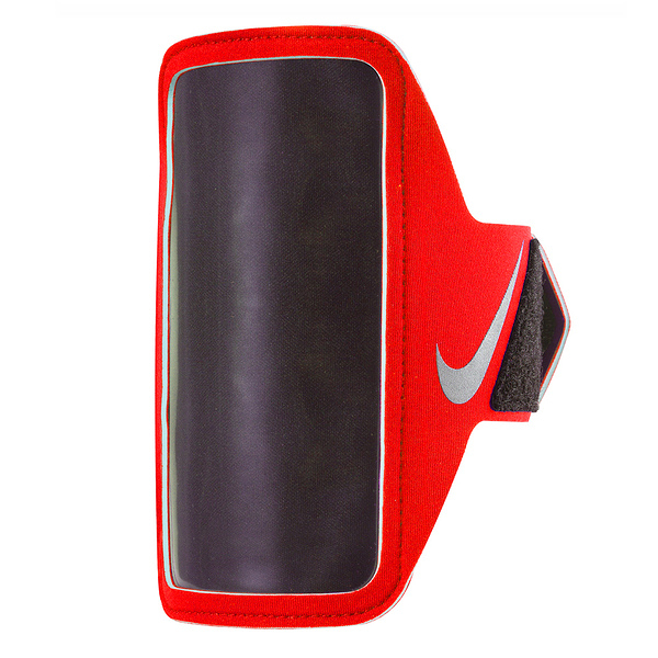 Nike Lean Arm Band [NRN65824OS] 運動 慢跑 自行車 輕量 手機 臂包 5吋 紅 銀