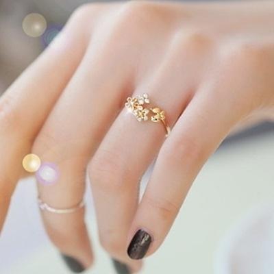 戒指 925純銀 鑲鑽-氣質新款生日情人節禮物女開口戒2色73dv13【時尚巴黎】