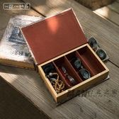 墨鏡假書收納盒仿真書擺件復古眼鏡盒太陽鏡整理盒首飾儲藏盒全館滿額85折