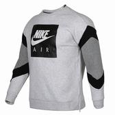 Nike Nsw Air Crew Fl 灰 黑air英文 logo 刷毛大學T 男 (布魯克林) 2018/11月 928636-051