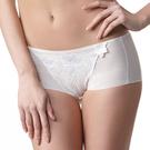 LADY 安布羅莎系列 刺繡中腰平口褲(暮光白)