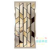 屏風 入戶玄關客廳屏風洗漱隔斷墻臥室廚房裝飾中歐式現代簡約磨砂玻璃T 5色