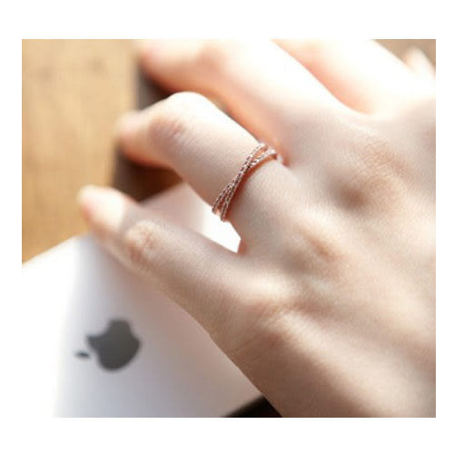 [24hr-快速出貨] 韓國 韓國 韓流 日韓 流行 時尚 飾品 水鑽 秀氣 戒指 甜美 時尚 優雅 玫瑰金 禮物