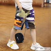 兒童褲子五分褲夏季新款男童短褲外穿休閑褲韓版潮中大童童裝